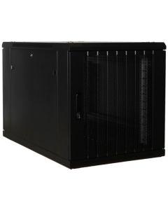 """12U, 19"""" serverkast, geperforeerde deuren, voor onder de bureaus (BxDxH)600x1000x634mm"""