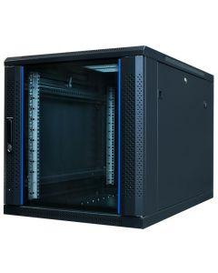 """12U, 19"""" serverkast, glazen deur, voor onder de bureaus, (BxDxH)600x1000x634mm"""