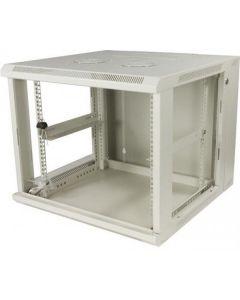 """9U, 19"""" Wandkast, metalen voordeur, (BxDxH) 600x600x501mm, wit"""