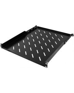 """1U, Vaste plank met montage oren voor 19 """" serverkasten met 550mm diepte, 600 / 800x800-kabinet, max 15kg, zwart"""
