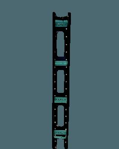 Kabel management voor alle 800mm breed server- en patchkasten, met deksel