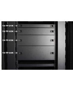19 inch 1U afdekpaneel voor serverkasten zwart KLIK FORM
