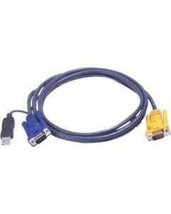 Kabels voor KVM switches CS-1708/CS-1716, tussen pc en switches
