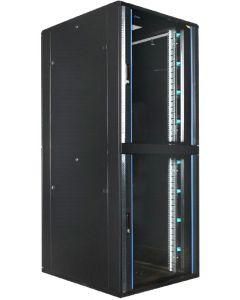 """42HE, 19"""" Serverkast met glazen deur, met 2 Compartimenten, (BxDxH) 800x1000x2000mm"""