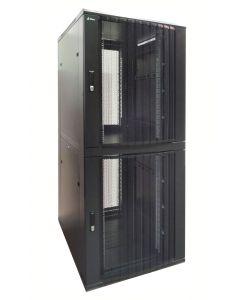 """42U, 19"""" Serverkast, met geperforeerde deuren, met 2 Compartimenten, (BxDxH): 800x1000x2000"""
