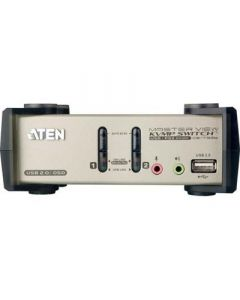 ATEN KVM-switch, 1 consol naar 2 PC's, USB, 2 extra USB-port
