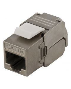"DELTACO MD-112, FTP Cat6a Keystone-connector, afgeschermd, 22-26AWG, ""Tool-vrij"""