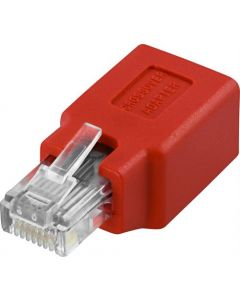 Patch Adapter, RJ45 man - Female, Cat5e, UTP