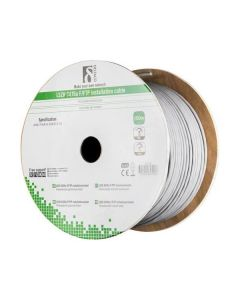 100m, Grijs, Cat6A, FTP folie bescherming installatiekabel, 100% koper ☆ LSZH - halogeenvrij