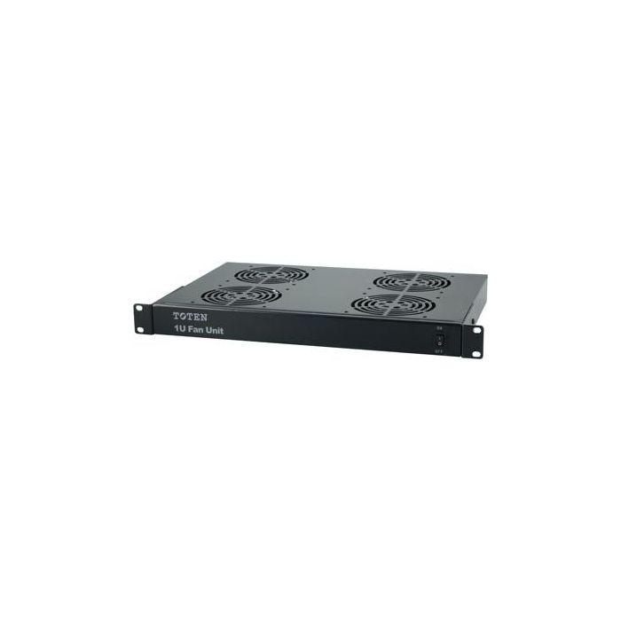 1U 19 inch ventilator set met 4 stuks fan geschikt voor alle 19 inch server en patchkasten